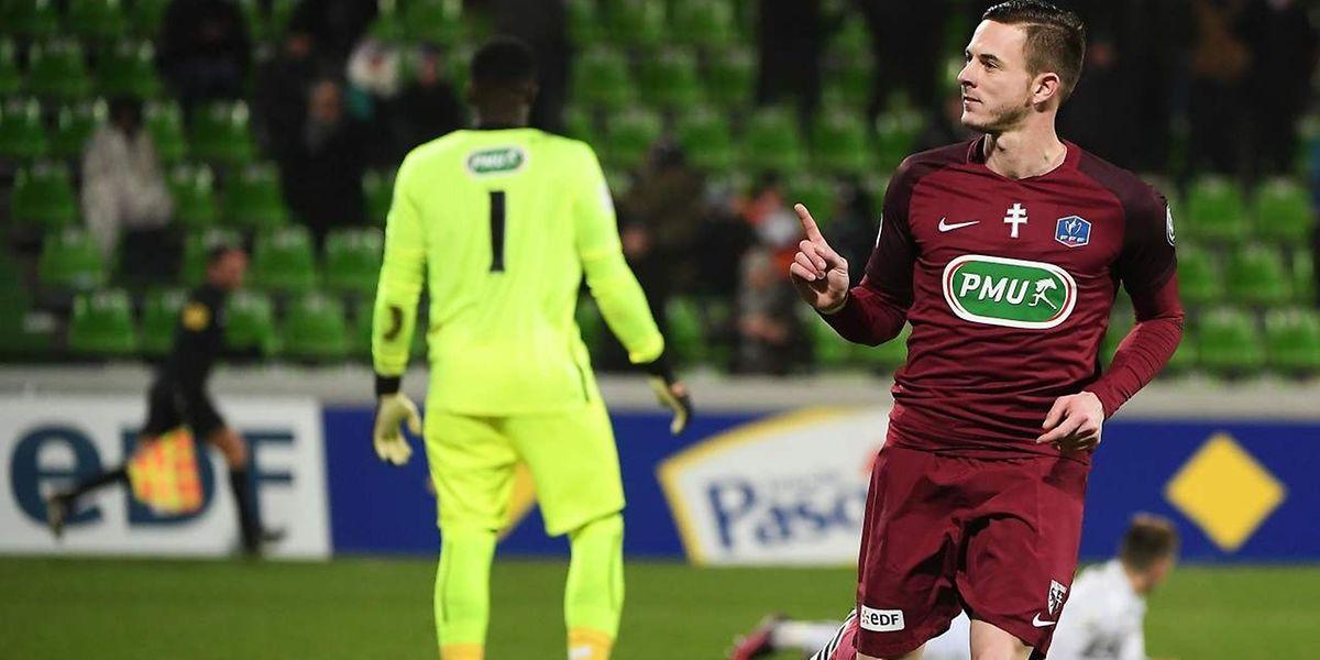 Face à Caen, Nolan Roux avait pourtant placé le FC Metz sur la voie de la qualification en inscrivant le 2-1 à la 108e minute...