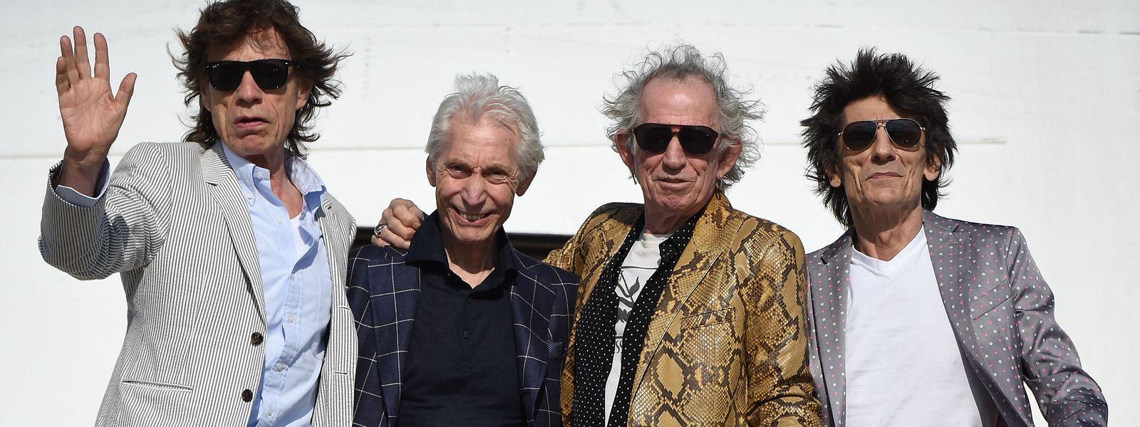 Die Rolling Stones im Jahr 2016: Mick Jagger, Charlie Watts, Keith Richards und Ron Wood (v.l.n.r.)