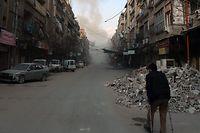 Rund 400 000 Menschen sind in dem Rebellengebiet Ost-Ghuta fast vollständig von der Außenwelt abgeschlossen.