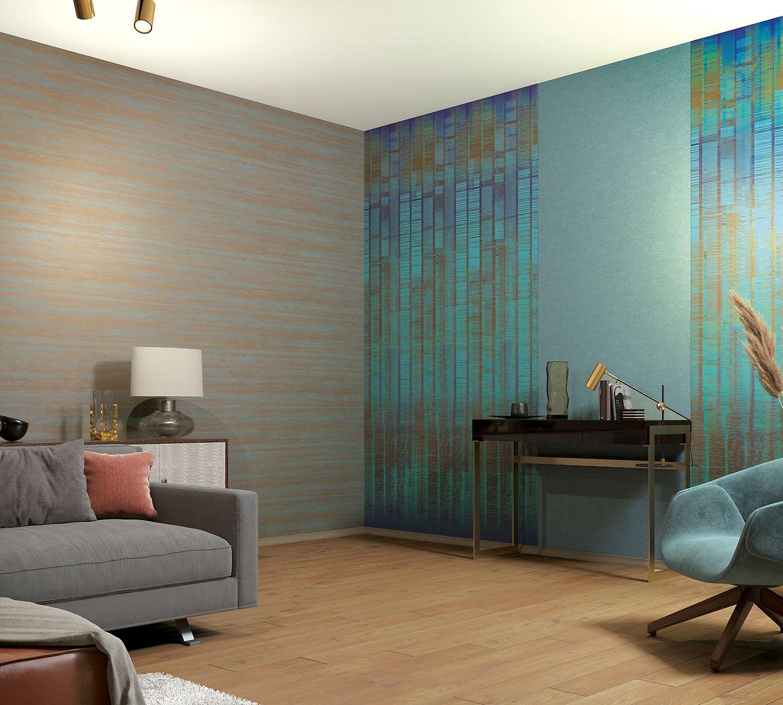 Wer einzelne Möbel oder Bereiche in einem Raum besonders hervorheben will, kann mehrere Tapeten miteinander mixen.