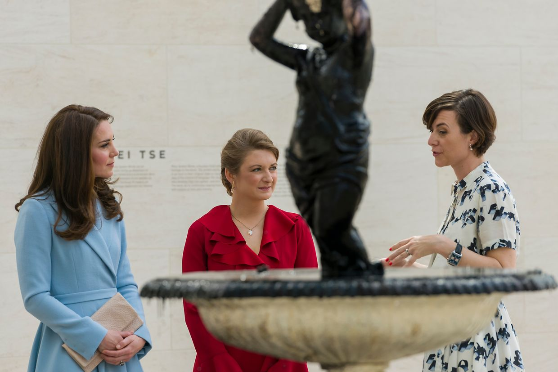 Nadine Erpelding, Programmdirektorin des Mudam, führte durch das Museum für zeitgenössische Kunst.