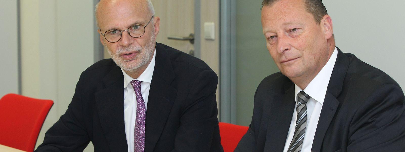 """""""Das ist für uns keine extrem gute Nachricht"""", kommentierte Adrien Ney (links), CEO der Luxair Group, die Pläne der Lufthansa, selbst nach Frankfurt und München fliegen zu wollen."""