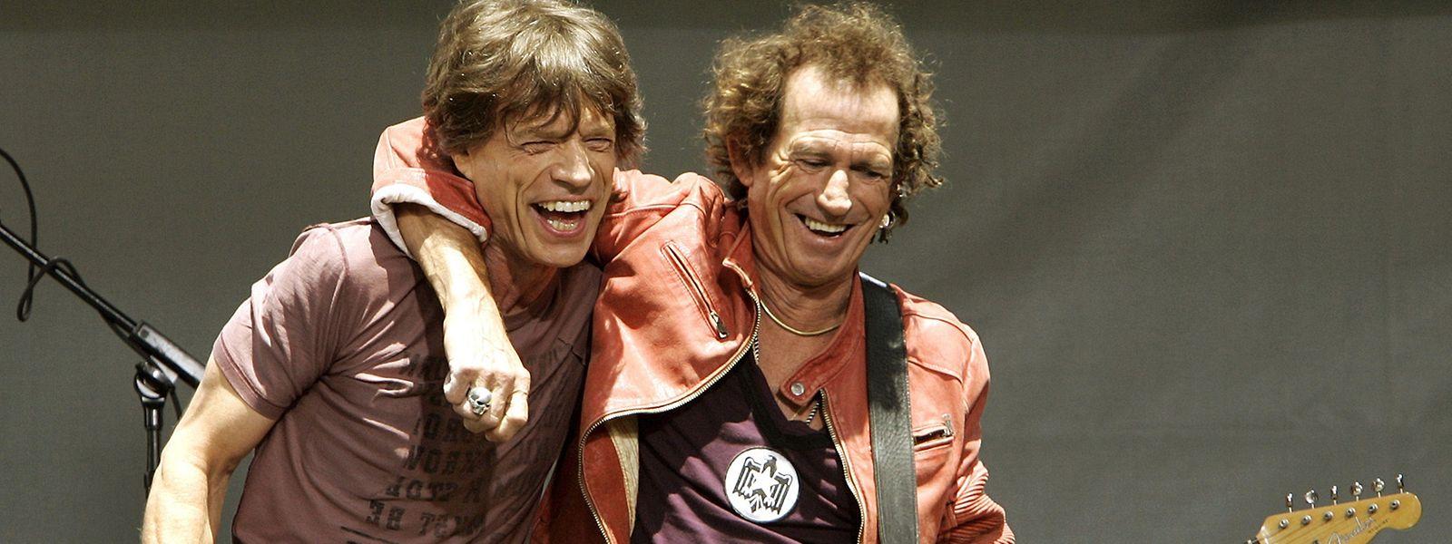 Alte Liebe rostet nicht: Mick Jagger (links) und Keith Richards kennen sich seit 1961.