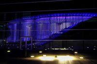 24.10. Luxemburg / Blaue Gebäude für 70 Jahre UNO / Philharmonie Foto:Guy Jallay