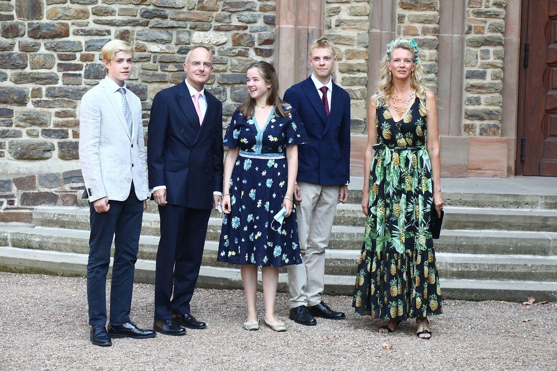 Les membres de la famille de la princesse Stéphanie de Lannoy