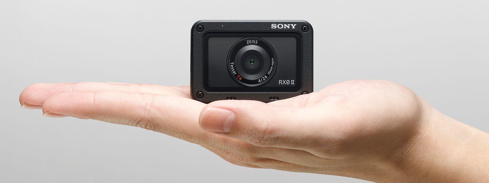 Die Maße des Kamera-Winzlings: 5,9 x 4 x 3,5 Zentimeter.