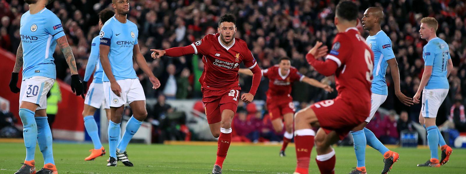 Alex Oxlade-Chamberlain erzielte das 2:0 für Liverpool mit einem Sonntagsschuss.