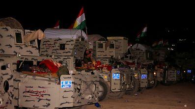 Kurdische Peschmerga-Truppen kämpfen an der Seite der irakischen Kräfte.