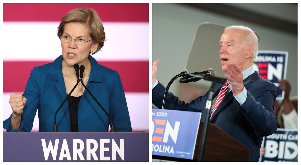 Auf Platz vier und fünf folgen in New Hampshire Elizabeth Warren und der frühere Vizepräsident Joe Biden.
