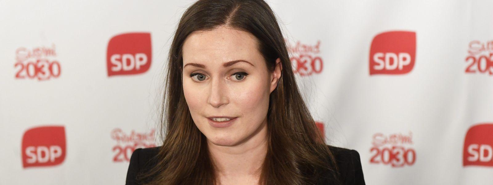 Sanna Marin war die bisherige stellvertretende Parteivorsitzende der Sozialdemokratischen Partei Finnlands.