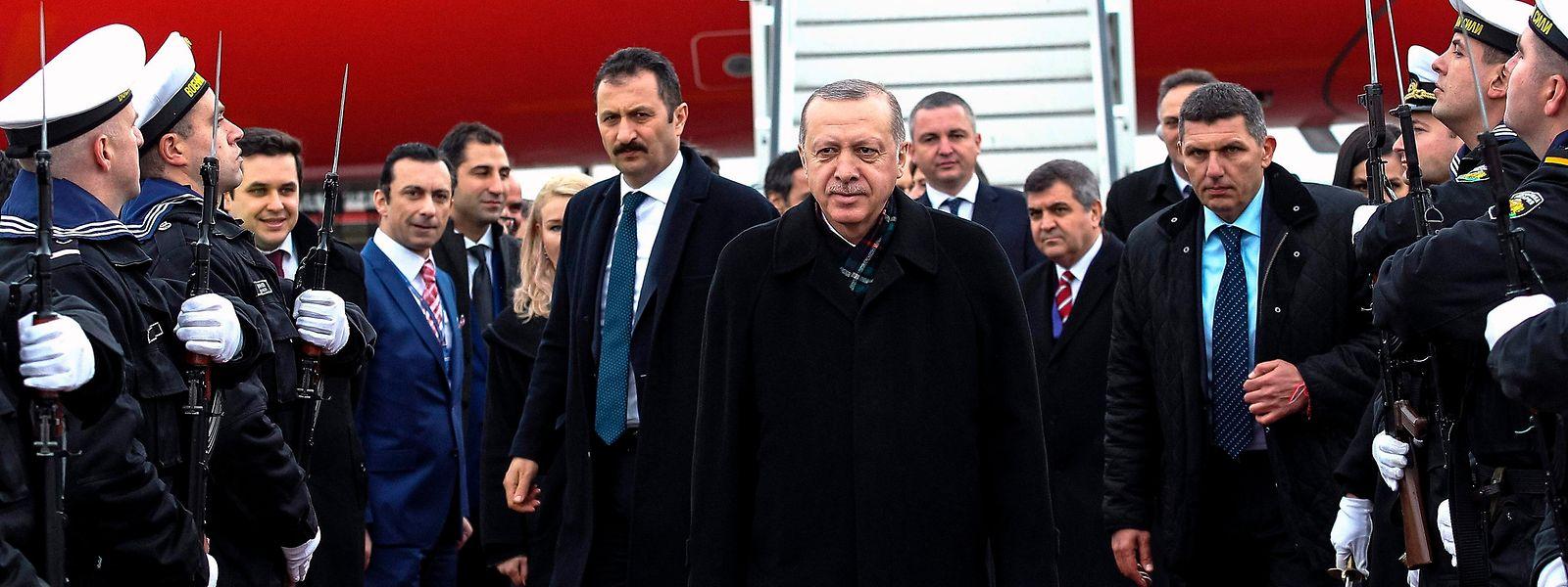 Der türkische Staatspräsident Erdogan bei seiner Ankunft in Warna.