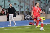 Luc Holtz (Trainer Luxemburg)/ Fussball, UEFA WM-Qualifikation 2022, Saison 2020-2021, Gruppe A, European Qualifiers / 30.03.2021 /Luxemburg - Portugal (Luxembourg vs Portugal) / Stade Josy Barthel, Luxemburg /Foto: Ben Majerus