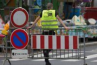 """""""Security Service Schmitt"""" am Donnerstag auf der Schueberfouer."""