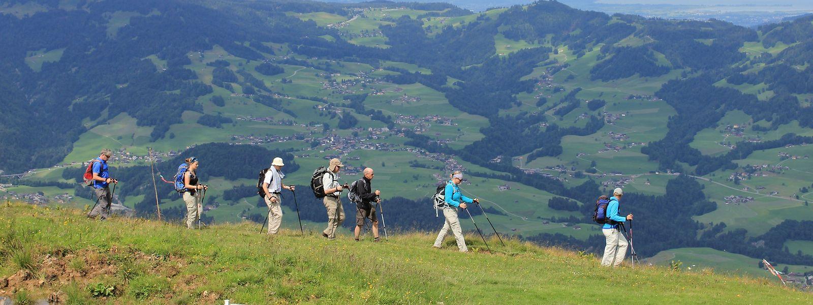 Wanderer kommen rund um den Großglockner auf ihre Kosten. Belohnt werden sie etwa mit einem Blick auf das Habachtal.