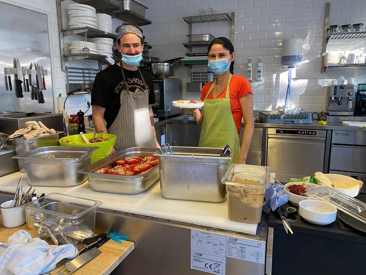 Mustafa Ergun and Yasemin Elçi in the Kitchen Photo: Yasemin Elçi