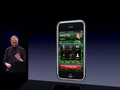 Steve Jobs demoed the first ever iPhone by making a call to Jony Ive