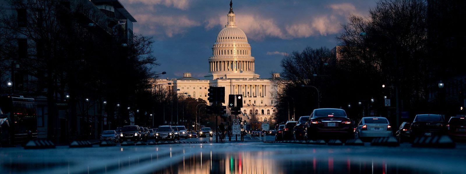 Das Kapitol in Washington, Sitz von Senat und Repräsentantenhaus, dem Parlament der Vereinigten Staaten.