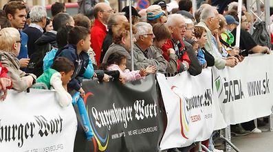 Les spectateurs se sont pressés contre les barrière à Diekirch