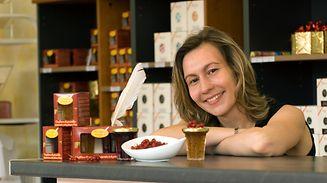 Anne Dutriez, détentrice du secret de cette fameuse confiture de groseilles.