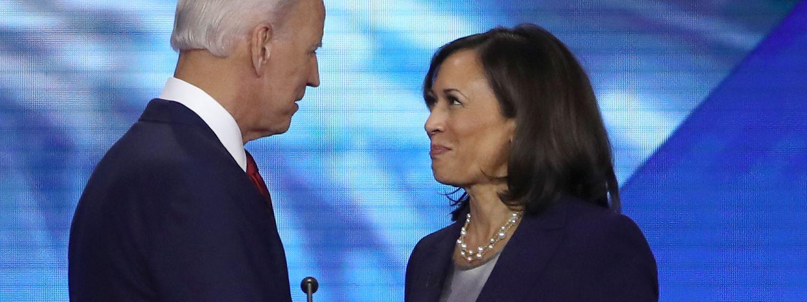 Biden hat sich gegen die Nationale Sicherheitsberaterin der Regierung von Barack Obama, Susan Rice entschieden. Die Aufnahme zeigt ihn mit Harris im Jahr 2019.