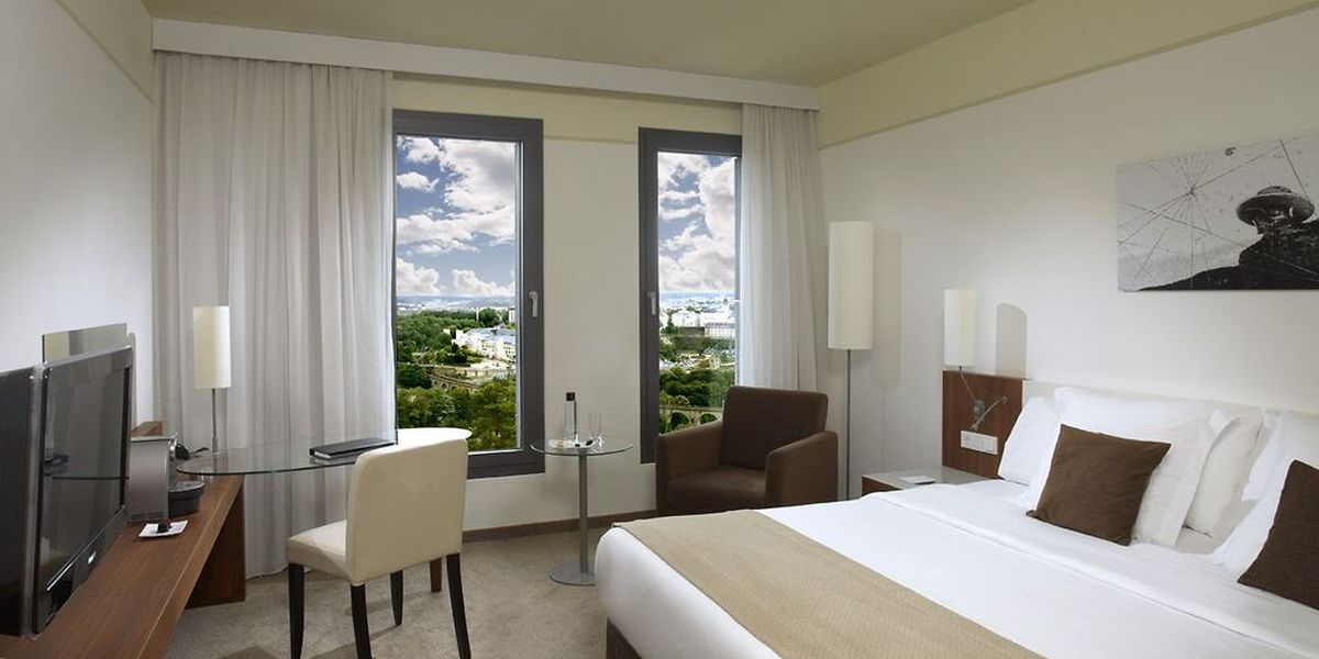 Une chambre de l'hôtel Melia, Luxembourg