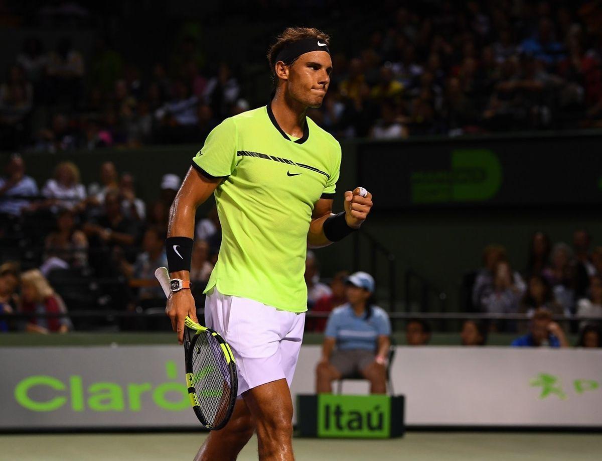 Victorieux de l'Américain Jack Sock en quarts, Rafael Nadal affrontera l'Italien Fabio Fognini en demi-finale à Key Biscayne