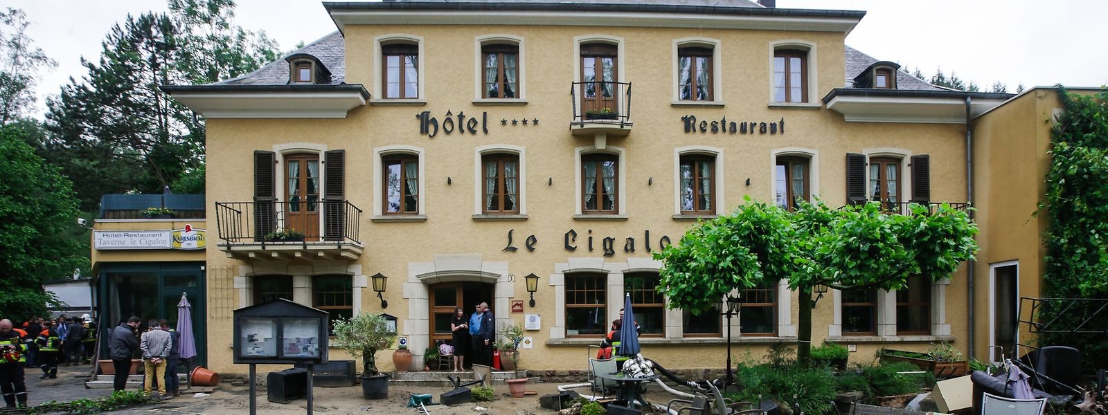 Das Hotel Le Cigalon im Müllerthal wurde von den Wassermassen verwüstet.