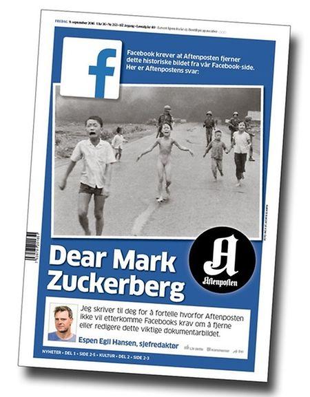 """""""Aftenposten"""" druckte die Philippika ihres Chefredakteurs auf der Titelseite."""