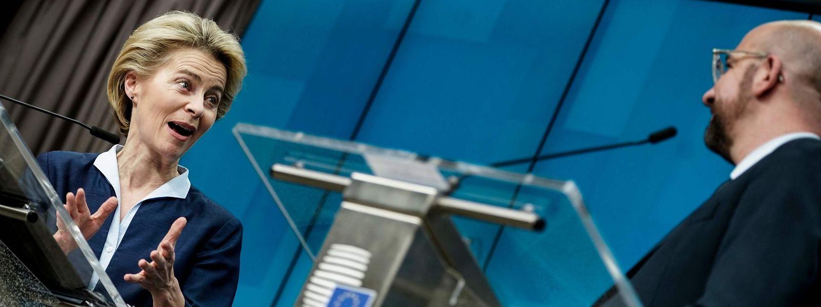 Das neue EU-Führungsduo Ursula von der Leyen und Charles Michel erlebte eine schwierige Gipfel-Premiere.