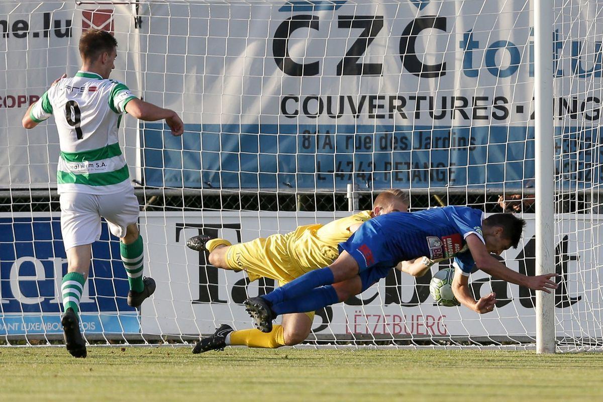 Artur Abreu a donné les trois points à Pétange dans les arrêts de jeu.