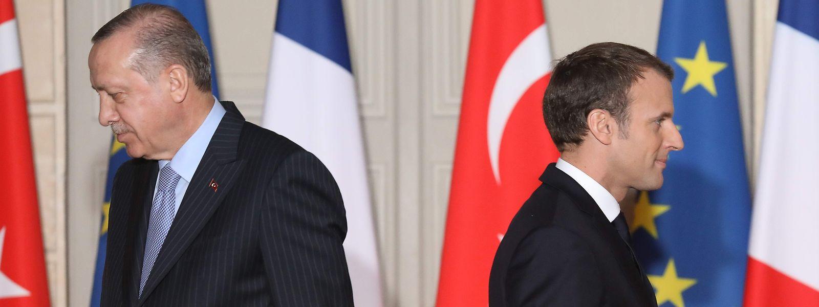 Die Beziehung zwischen Emmanuel Macron und Recep Tayyip Erdogan ist an einem Tiefpunkt.