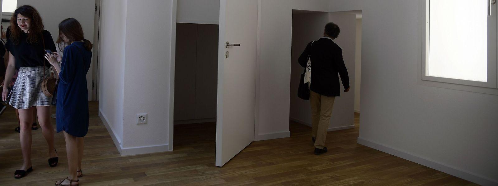 Der Schweizer Beitrag zur Biennale - vordergründig nur eine leere Wohnung.