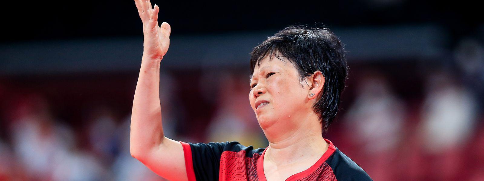 Ni Xia Lian muss sich in sieben Sätzen geschlagen geben.