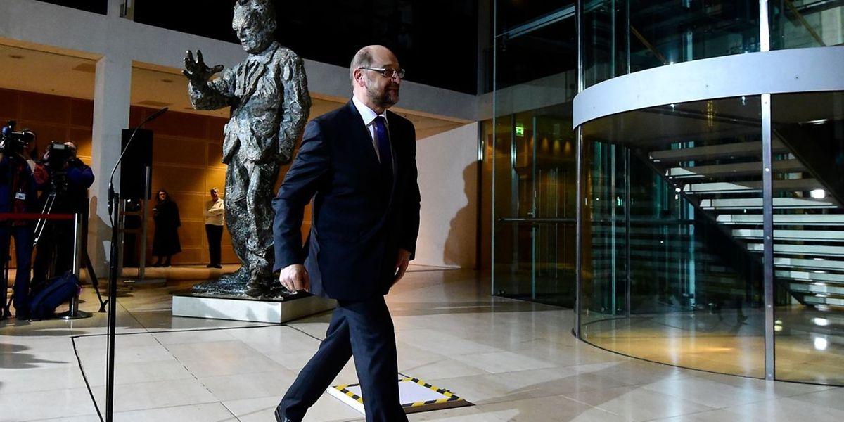 Martin Schulz a reconnu mardi soir que la présidence du parti était un «poste difficile» qui «ne procure pas seulement du plaisir».