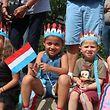 Des enfants lors de la Fête militaire à Diekirch le 20 juin.