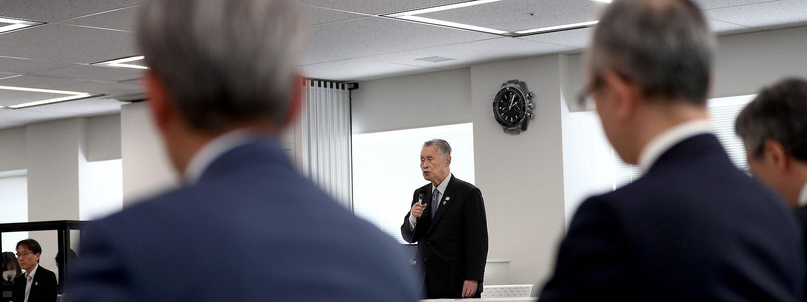 Yoshiro Mori, le directeur général du comité d'organisation de Tokyo 2020, a indiqué revoir ses ambitions à la baisse.