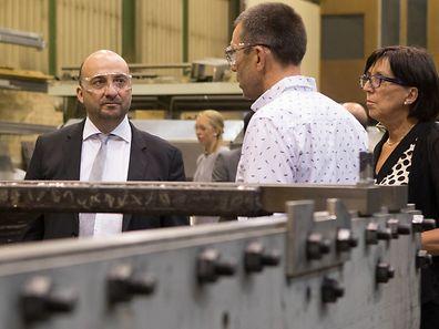 AMECO s.a r.l.: visite du Monsieur le Ministre Etienne Schneider, a Roost, le 28 Juillet 2016. Photo: Chris Karaba
