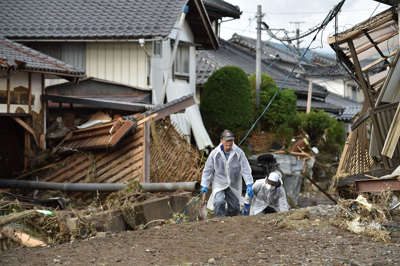 Bilder der Verwüstung nach dem Taifun Hagibis in Japan.