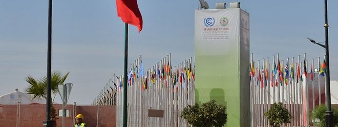 Le site de la conférence internationale sur le climat de la COP22 à Marrakech
