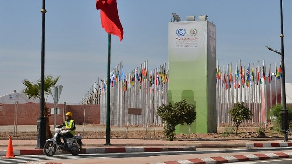 The conference premises of COP22 in Marrakech
