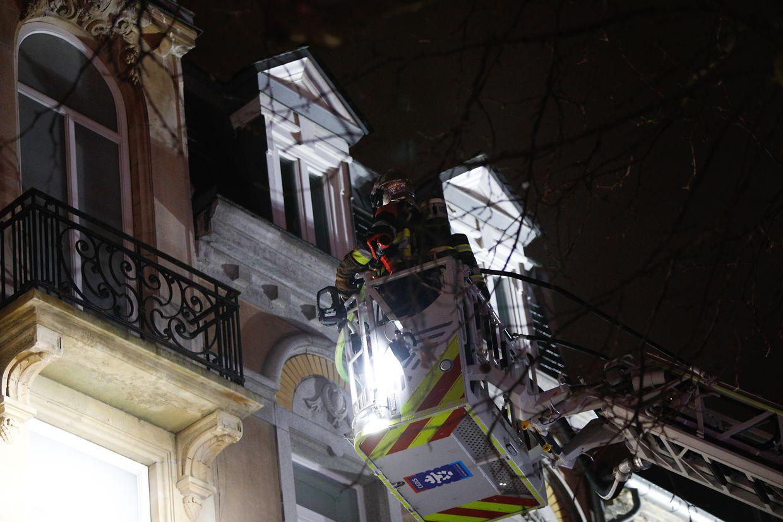 Auf der Place d'Armes war es zu einem Dachstuhlbrand gekommen.