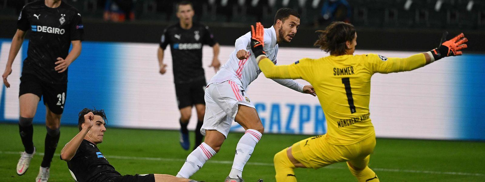 Le duel entre Mönchengladbach et le Real Madrid a été marqué par le retour sur les terrains d'Eden Hazard.