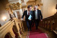 Rentrée parlementaire, Chambre des Députés.Xavier Bettel et Pierre Gramegna Photo: Guy Wolff