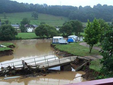 Auch der Camping in Reisdorf blieb nicht verschont.