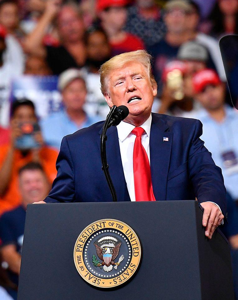 Präsident Trump redete über eine Stunde lang, verriet jedoch nicht sonderlich viel zu seinem Wahlprogramm.