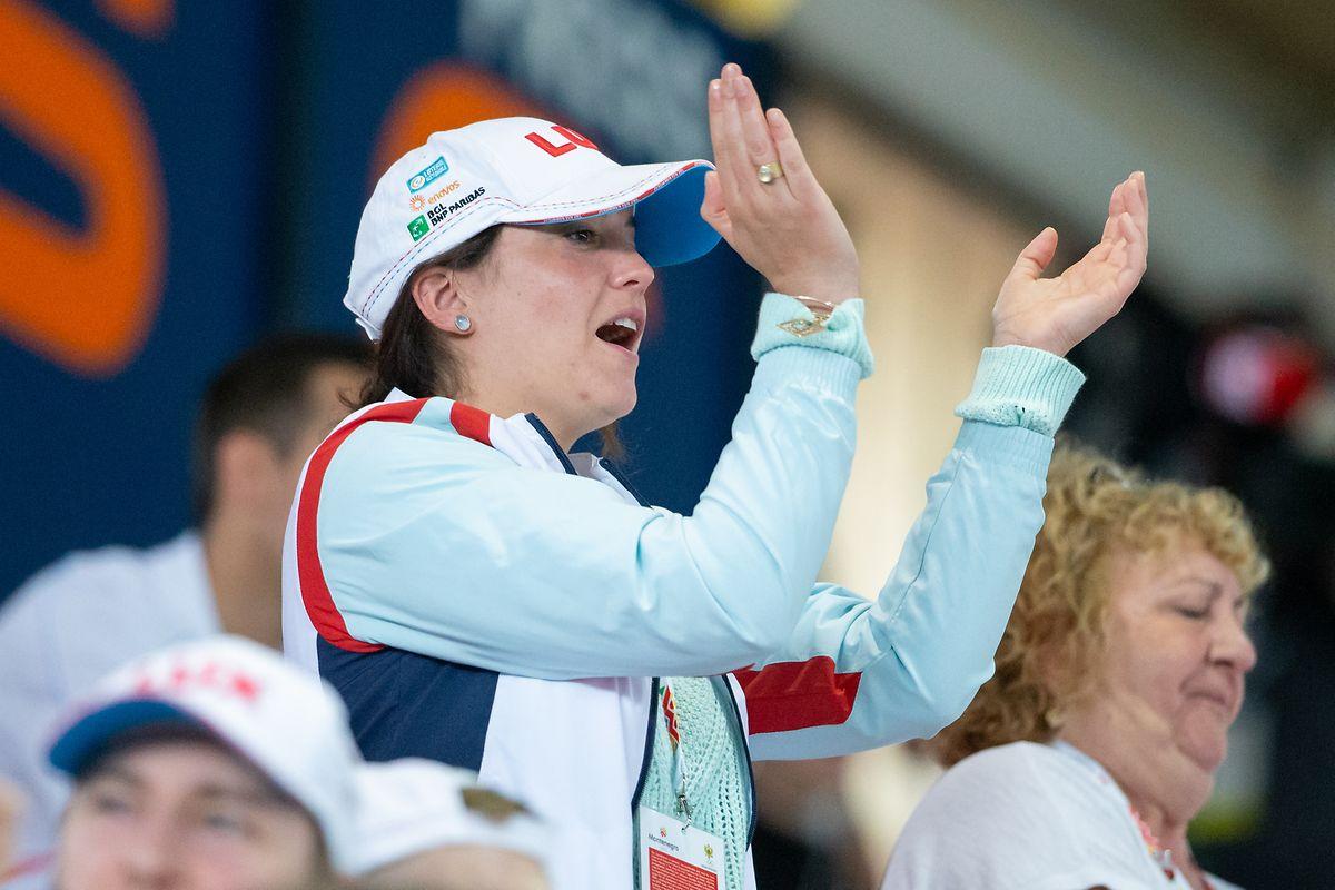 Prinzessin Alexandra feuerte die Volleyballerinnen an.