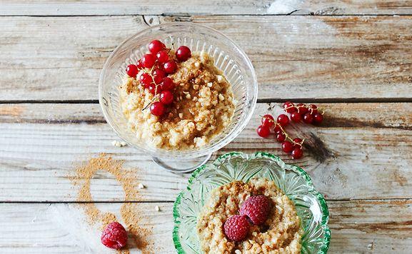 Wer mag, testet auch Quinoa zur Abwechslung als Grundlage für Porridge.