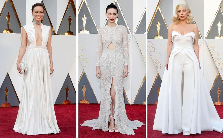 Olivia Wilde, Rooney Mara, und Lady Gaga - Weiß und Nudetöne liegen auch weiterhin im Trend.