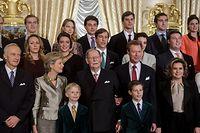 9.1. Luxemburg-Stadt / 95ster Geburtstag von Grossherzog Jean / Gruppenfotos Grossherzoglicher Palast / 2. Bild , nur die Familie , Kinder , Enkelkinder und Urenkel Foto:Guy Jallay