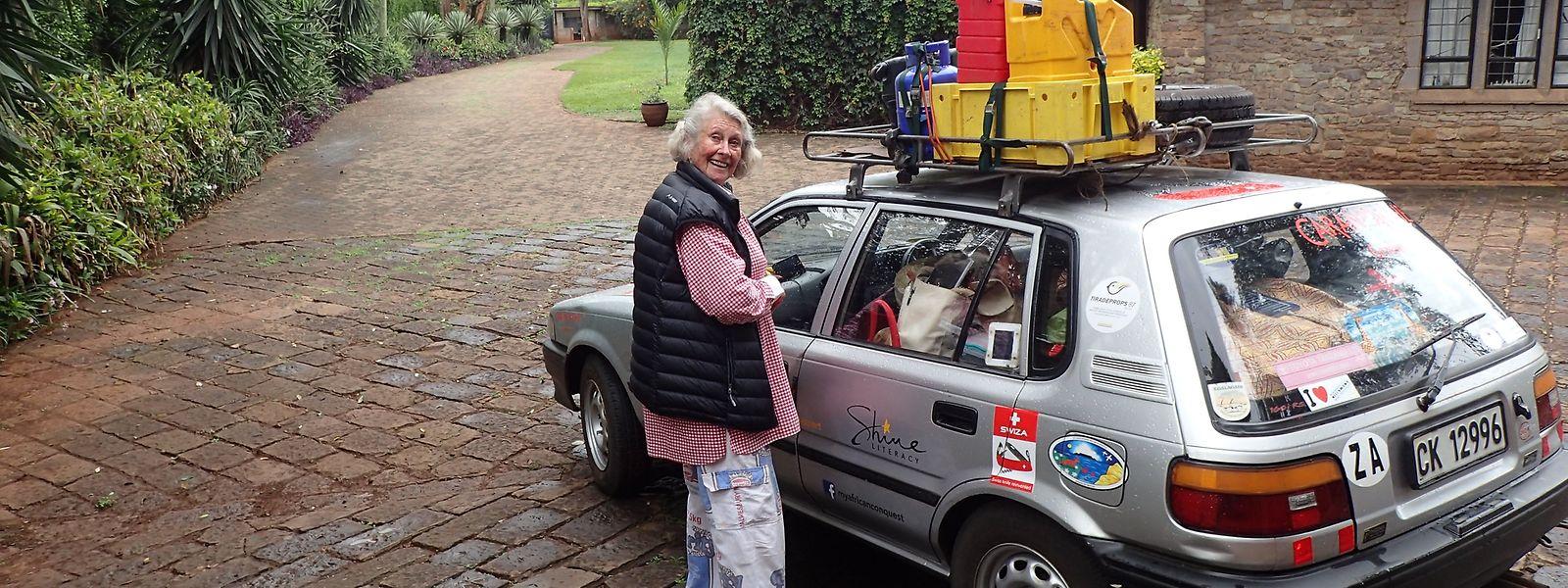 Wohlbehalten zurück: Julia Albu konnte sich auf ihren 20 Jahre alten Toyota Conquest verlassen.